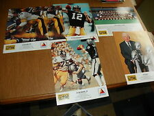 """6 (5 diff.) 1989 Pittsburgh Steelers Citgo WTAE 10"""" x 13"""" player posters"""