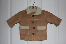 Oshkosh Jacket/Coat Suede Look With Sheepskin (Look) Lining Size Small Polyester