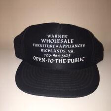 VTG Warner Wholesale Richlands Virginia Trucker Snapback Hat Adjustable Cap