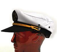 Commandant de Bord 56cm Plaisance / Navigation Casquette à Visière