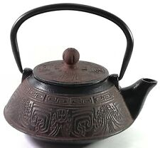 More details for buckingham aztec tetsubin japanese style cast iron teapot kettle tea pot 800 ml