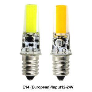 E14 European LED Bulb 2508 COB 3W Light Silicone Crystal Lamp AC12V/DC12~24V #1
