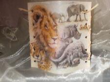 Deko Windlicht Tiere Afrikas Löwe Elefant Leopard Tischlicht Unikat Geschenkidee