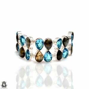 Labradorite Blue Topaz Bracelet B4202