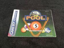Notice Nintendo Game Boy Advance Killer 3D Pool EUR Très Bon état