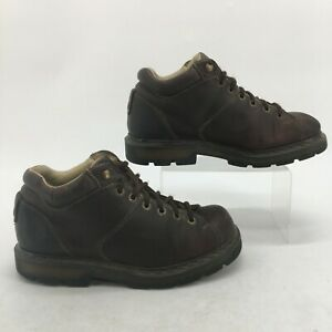 Doc Dr Martens Oxford Work Boots Womens 11 Mens 10  Brown Leather Lace Up 11528