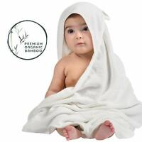 Organic Bamboo Hooded Baby Towel Super Soft, Absorbent Baby Towels & Washcloth