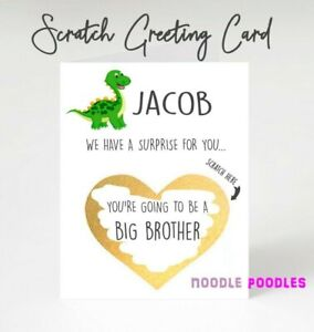 You're Going To Be A Big Brother Pregnancy Announcement Card Reveal Scratch