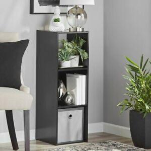 Mainstays 3-Cube Storage Organizer Shelf, Black