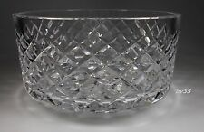 """WATERFORD CRYSTAL ALANA footed ROUND SERVING BOWL - 7"""" x 3 3/4"""""""