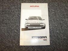 1993 Acura RS LS GS GSR Hatchback Integra Owner's Owners User Operator Manual