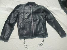 ALLSTATE BLACK LEATHER MOTOR CYCLE JACKET SIZE 48 JUST $45