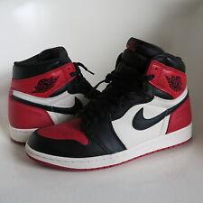 Nike AIR JORDAN I 1 RETRO HIGH OG BRED TOE US SZ. 9 Black Gym 15504981a