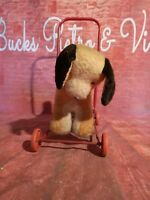 Antique Vintage Old Push Along Dog Toy Ride On Animal 1950s 1960s Merrythought