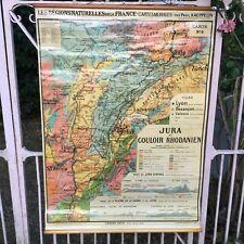 Ancienne carte scolaire 'Les régions naturelles de France'