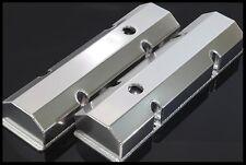 Sbc Fabricated Tall Aluminum Valve Covers w/ Accessory Holes # 6145-Satin