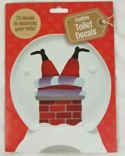 Festive Toilet Decals Sticker Xmas Christmas Decals Removable Brand New Sealed