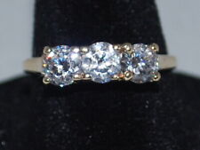 10k Gold Ring with a Trinity of CZ's