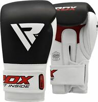 RDX Leather Boxing Gloves Training Hand Wraps Kickboxing Muay Thai