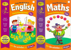 Inglés Y Matemáticas Leap Aadelante Home Aprendizaje Workbooks For Kids Años 6-7