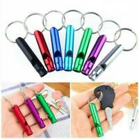 10PCS Aluminum Alloy Whistle Keyring Keychain For Outdoor Camping Survival Tool
