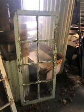 c1900 antique casement sunroom window door white 54� x 22 3/8� old glass 9/12�