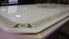 LUXURY VERSACE DESIGN ITALIAN COFFEE TABLE CREAM  OR BLACK