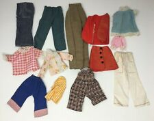 Vintage Lot Doll Clothing Tops Overalls Vest Pants Romper Etc
