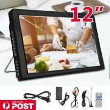 12'' Portable HD TV Digital Analog Television MP4 MP3 TFT DVB-T2 12V Player LED