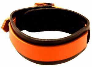 Armband Leder Surfer schwarz orange Lederarmband Surferamband Echtleder Harley