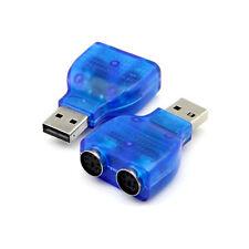 ADATTATORE CONVERTITORE DIRETTO DA PS/2 PS2 A USB 2 ENTRATE PER MOUSE TASTIERA