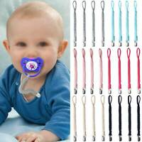 Unisex Baby Dummy Clips 1/4Pcs Teething Soother Pacifier Clip Chain Holder Strap