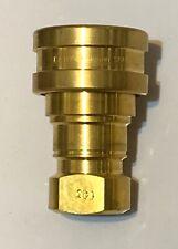 "Eaton Hansen Series 6 B6-HKP Brass Hydraulic Coupling 1"" NPT B6HKP"