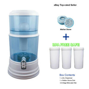 Aimex Water Purifier 8 stage water filter Carbon Mineral Bench top Dispenser 20L
