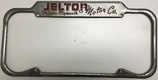 License Plate Frame 1940s 1950's Jelton DeSoto Plymouth Oakland CA