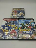 Lot of 3 Sonic The Hedgehog PlayStation 2 Video Games