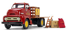 1953 Ford Red COE Half Stake Truck w/Load NEW HOLLAND PARTS 1/34 Scale 19-3913
