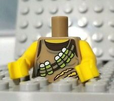LEGO Dino Tracker Minfigure TORSO Ammo Belt All Yellow Arms Tan/Dark Brown Shirt