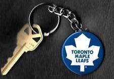 Toronto Maple Leafs Plain White Leaf Keychain Key Chain NHL