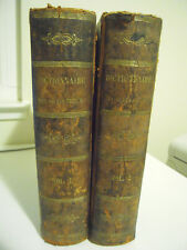 Professors Fleming and Tibbins~ROYAL DICTIONARY ENGLISH AND FRENCH.. 1867~2 VOL.