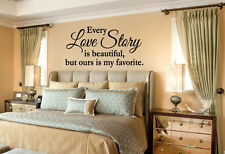 Every Love Story is Beautiful vinyl wall lettering quote decor/bedroom/sticker