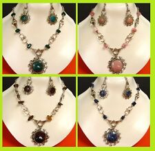 EXCLUSIVE 16 Items = NECKLACES EARRINGS  Semi precious stones 8 sets Peru NE91