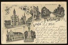 1899 GRUSS AUS Perleberg Germany Postcard