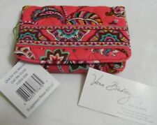 Vera Bradley CALL ME CORAL One For The Money COMPACT Taxi WALLET for PURSE  NWT