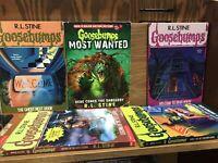 Goosebumps/Fear Street Books - Lot of 8 - Random mix/Unsorted