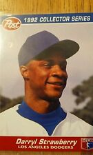 1992 Post Collectors Series Card Darryl Strawberry #10, LA Dodgers