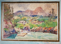 WILLIAM JAMES THOMSON (1857-1927) Original SIGNED Watercolor Painting dated 1913