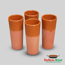 Set of 4 Spanish Terracotta Tall Glasses - Vaso Tubo - 330ml