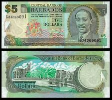 Barbados 5 DOLLARS ND 2000 P 61 UNC