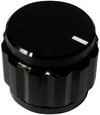 Bouton de potentiomètre pour axe lisse 6.35mm Ø22x19mm en alu. Couleur: noir